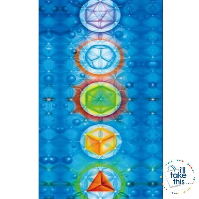 🧘 7 Chakra Colored, Mandala Blanket/Rainbow Stripes Tapestry Yoga Mats - Ideal for Yoga, Pilates Class - I'LL TAKE THIS