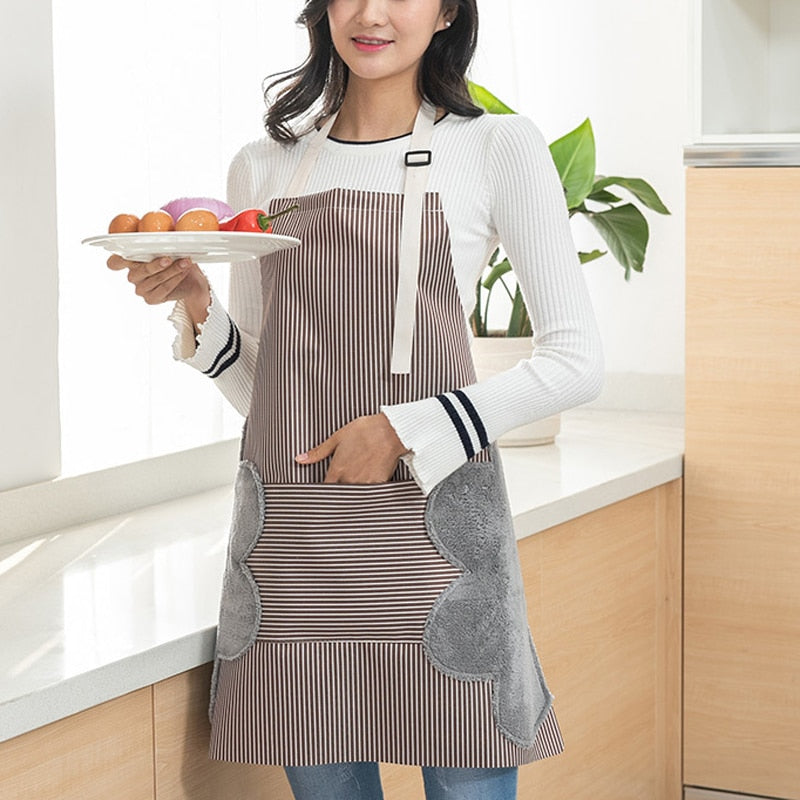 Waterproof adjustable Aprons heavy-duty cotton, convenient Super absorbent side hand wipe cloths - I'LL TAKE THIS