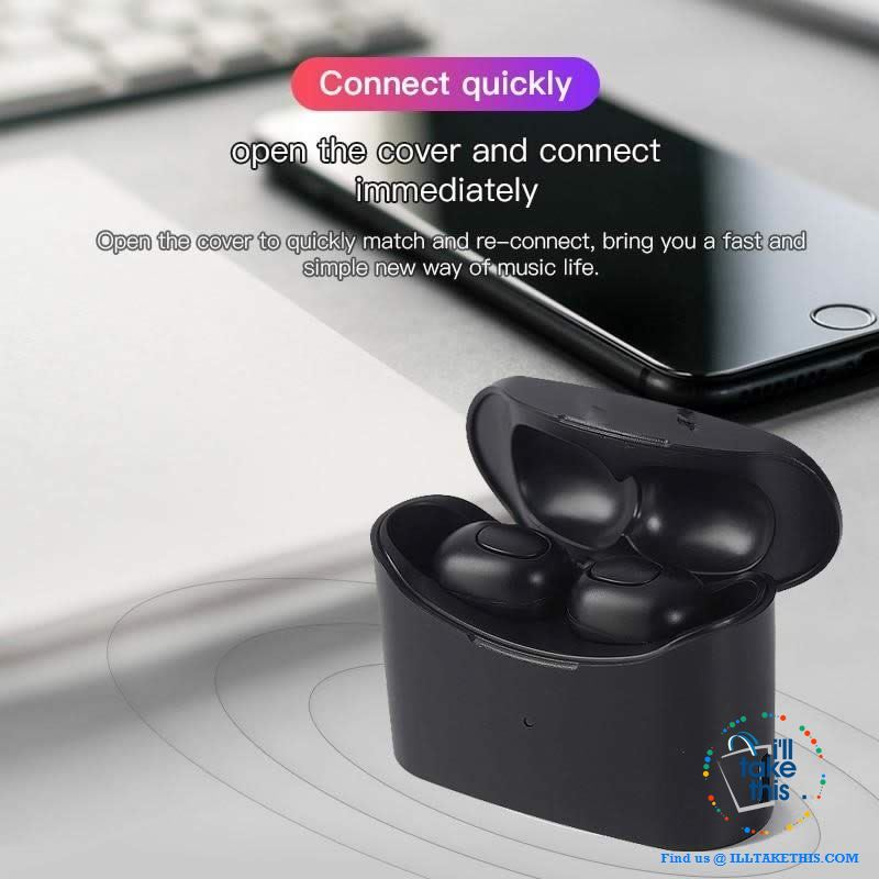 Bluetooth Earbuds Superb Sound in a minimalist earpiece, with dual microphone and charge case - 3 Color Options! - I'LL TAKE THIS