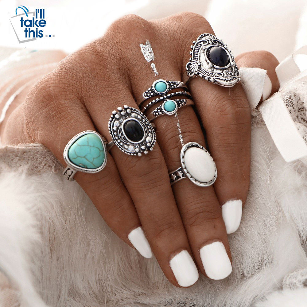 Antique Gold or Silver Bohemian Midi Ring Set Vintage Steampunk Anillos Knuckle Rings For Women Boho Jewelry 5 Pcs/Set - I'LL TAKE THIS