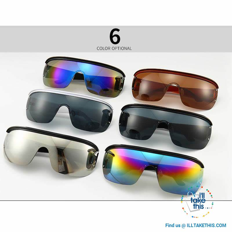 Oversized Vintage Goggle One Piece Gradient SunGlasses UV400 - Unisex 😎 💝 - I'LL TAKE THIS