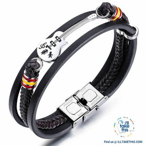 Stainless Steel Guitar or Treble Clef Bracelets/Rope Bangle - Suits all! - I'LL TAKE THIS
