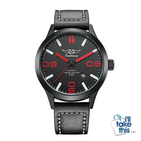Image of Aviation Pilot Men's Watch, fashion leather strap. Military Quartz Mens Sport Watches in 7 colors - I'LL TAKE THIS