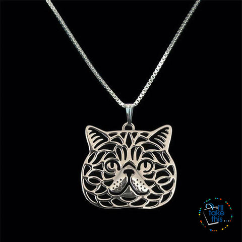 Image of Exotic Short-hair Cat Pendant, 3 color variations + FREE Chain - I'LL TAKE THIS