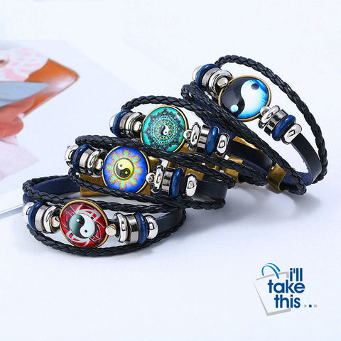 Image of Yin Yang Gossip Multi-layer Leather Bracelets - 5 Design options - I'LL TAKE THIS