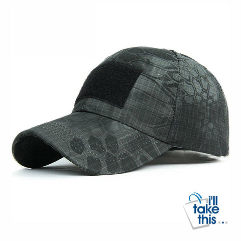 Image of Snapback Camouflage Tactical Hat, Army style Tactical Baseball Cap Unisex - I'LL TAKE THIS