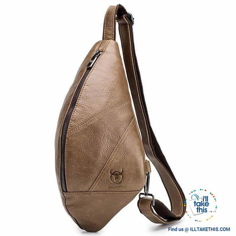 Image of 😉 Vintage Leather Men's Messenger/Cross-body Hand Bag, Travel or Shoulder Bag - 2 Colors - I'LL TAKE THIS
