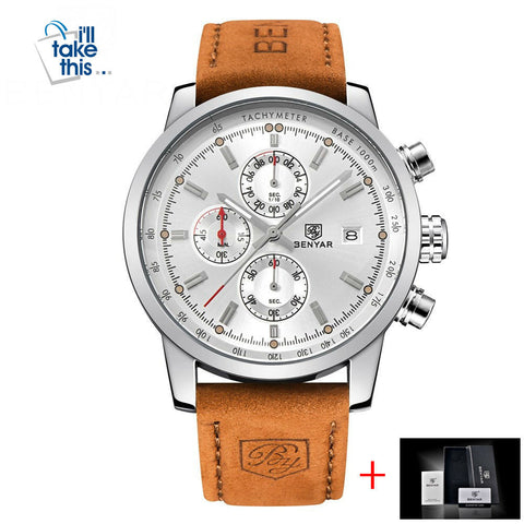 Image of Mens Watches Luxury Sport Wristwatch Chronograph Quartz movement Watch ⌚ - I'LL TAKE THIS