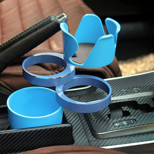 Automotive Multi Cups Organizer Phone Holder Car Drink Bottle Gadget Storage
