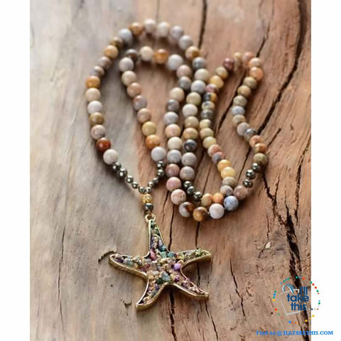 Image of Bohemian-inspired Starfish Necklaces - Multicolored Beaded Pendant Necklaces - I'LL TAKE THIS