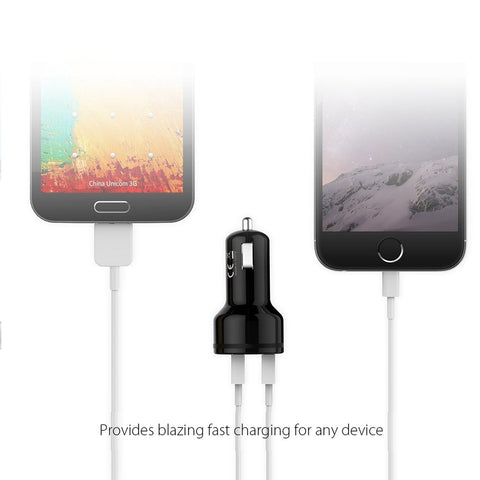 In-Car Charger Quick Charge 3.0 Dual QC 3.0 USB Car Phone Charger Suite most iPhone, iPad, Android - I'LL TAKE THIS