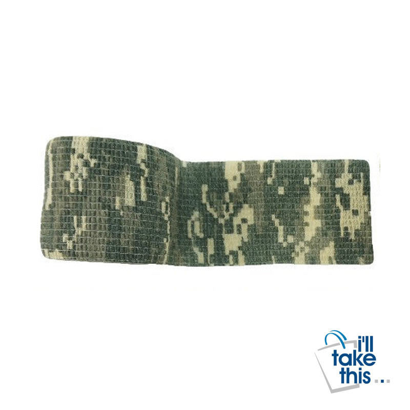 Camouflage Waterproof tape Jungle Army style Camouflage Stealth Tape Suit Outdoor Hunting + Shooting - I'LL TAKE THIS