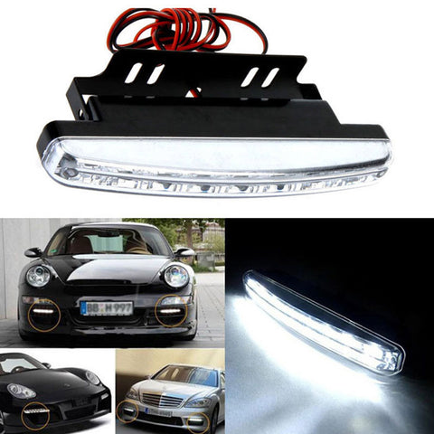 Image of Daytime driving running light 8 LED led DRL Universal fog lights for cars Waterproof White DC 12V - I'LL TAKE THIS