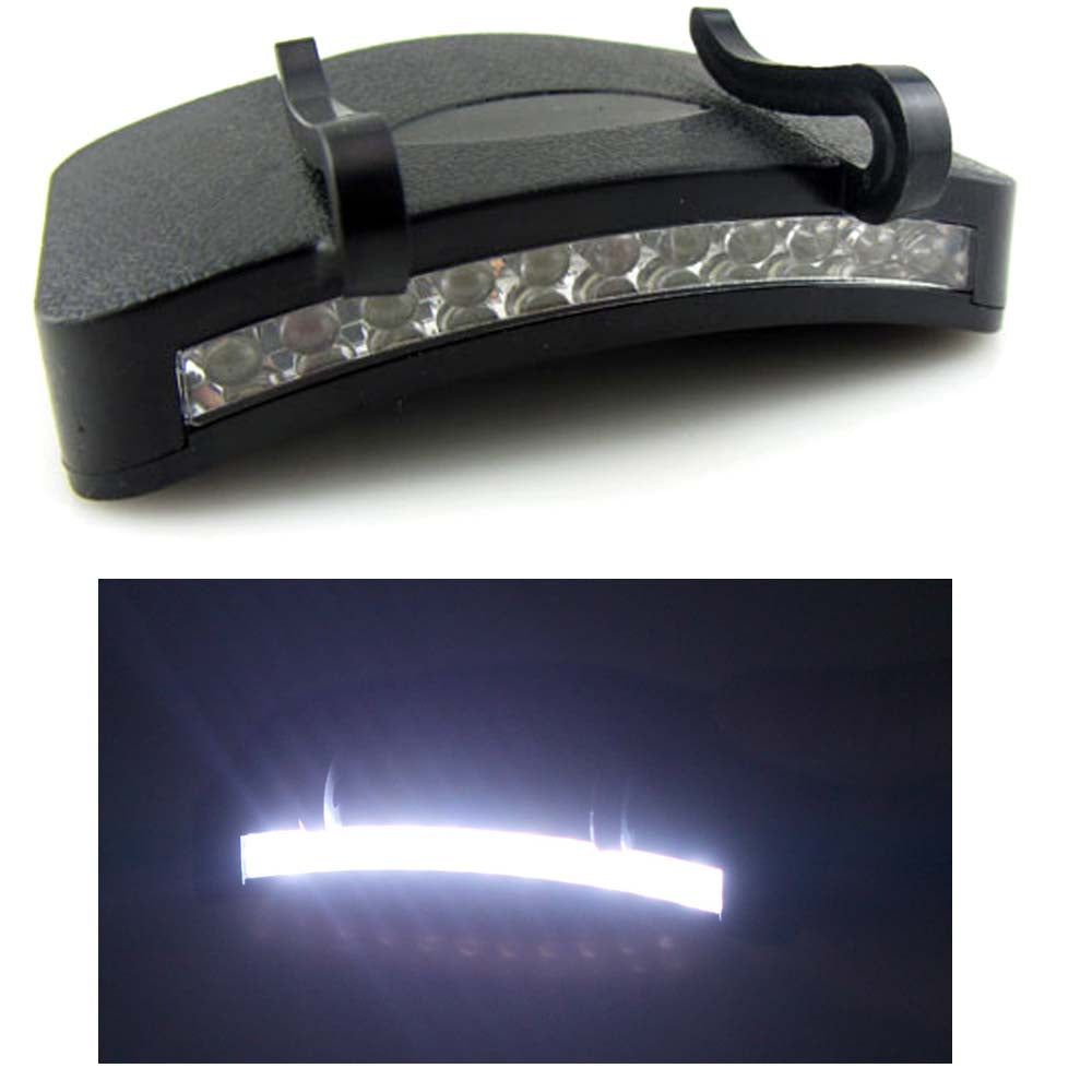Fishing Light 11 LED Clip-On Cap light - White Light Lamp more Cycling Hiking Camping Cap Night Repair Car - I'LL TAKE THIS