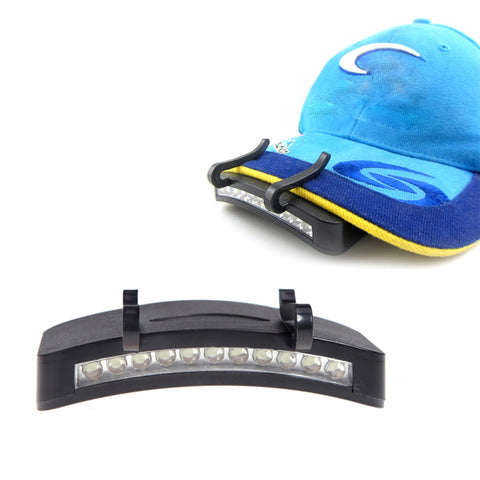 Image of Fishing Light 11 LED Clip-On Cap light - White Light Lamp more Cycling Hiking Camping Cap Night Repair Car - I'LL TAKE THIS
