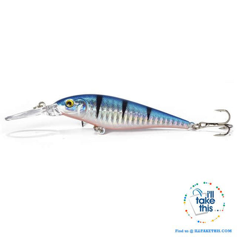 Image of Fishing lures - JerkPro™ Jerkbait 6 Super Quality, 20 Varied Colors 4.33' - .37oz dual #6 Treble hook - I'LL TAKE THIS