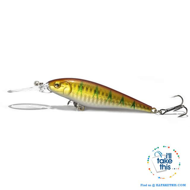 Fishing lures - JerkPro™ Jerkbait 6 Super Quality, 20 Varied Colors 4.33' - .37oz dual #6 Treble hook - I'LL TAKE THIS