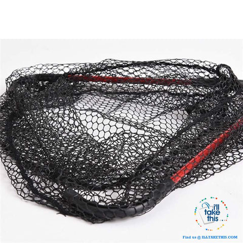 Image of Ultra-light Portable Aluminum Triangular Fishing Net with retractable handle - I'LL TAKE THIS