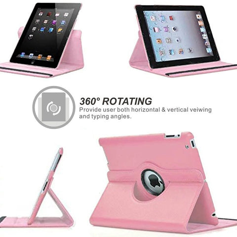 Apple iPad 360° Rotating Cases - 10 Colors suit iPad 2,3,4,5,7,8 - Mini, Air + Pro Tablets