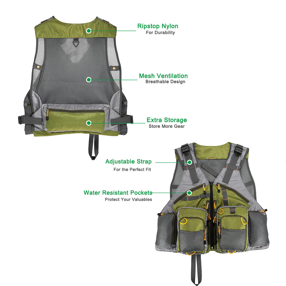 Fishing Vest Top Quality Mesh Unisex with Fishing Tackle Box Pesca Back Multi-function Pockets - I'LL TAKE THIS
