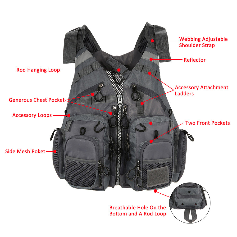 Fishing Vest and/or Life Jacket Ideal for ROCK, Boat or Rapids Fishing with Flotation inbuilt - I'LL TAKE THIS
