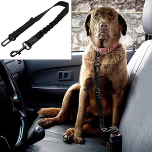Adjustable Pet Seat Belt - Safety Leads Vehicle Seat-belt Harness with Elastic Bungee Leash