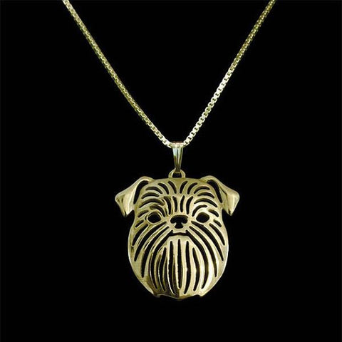Image of Brussels Griffon Dog Pendant in Gold, Rose Gold or Silver with FREE Link chain - I'LL TAKE THIS
