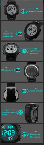 Image of Men's Digital LED Sports Watch, Water Resistant to 50m (150ft) - I'LL TAKE THIS