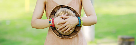 Image of Handmade Multi Color Natural Stone strand Bracelets, Evoke your inner Chakra - I'LL TAKE THIS