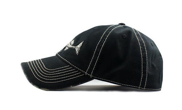 High Quality 100% Pure Cotton Fish Bone Fishing Hat Available in Black, Blue, Khaki or Orange - I'LL TAKE THIS