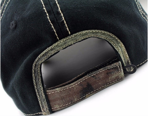 Image of High Quality 100% Pure Cotton Fish Bone Fishing Hat Available in Black, Blue, Khaki or Orange - I'LL TAKE THIS