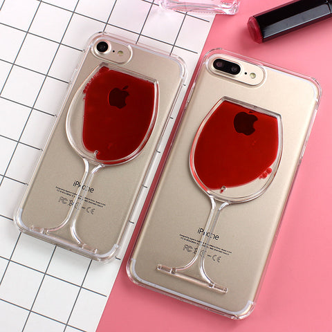 Red_Wine Cup Transparent Case for iPhone X, 8/Plus,7/Plus, 6, 6s, iPhone SE Hard Clear Phone Cover - I'LL TAKE THIS