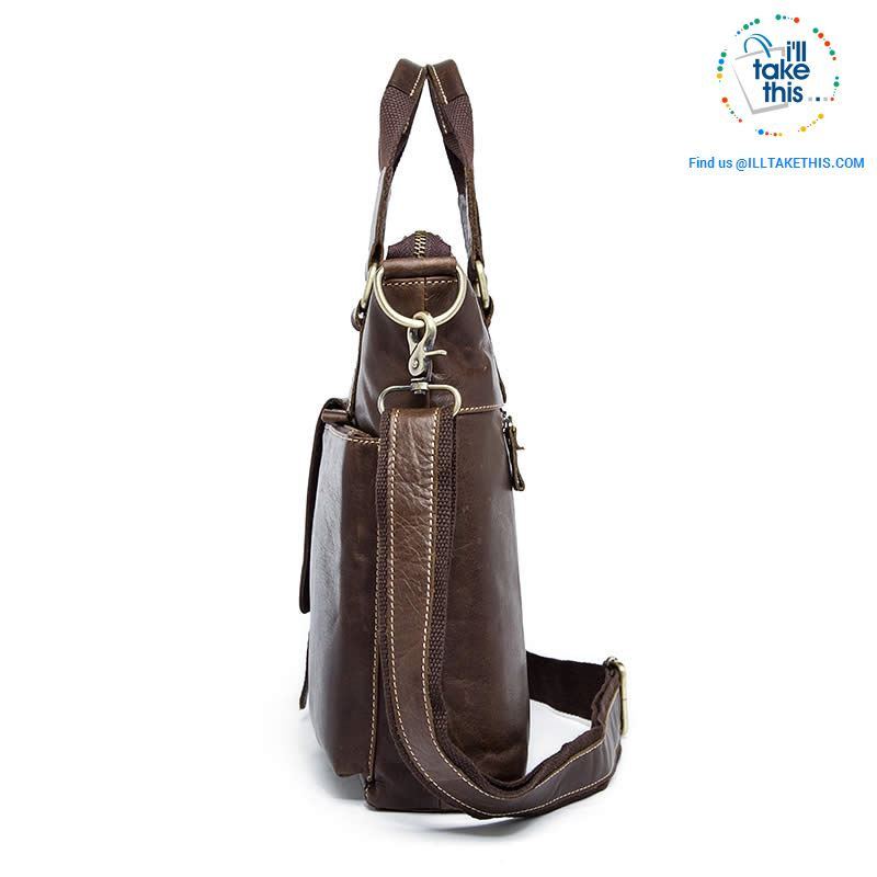 Large Mens Genuine Leather shoulder/Manbag, Ideal male fashion in a Crossbody Bag 4 Colors - I'LL TAKE THIS