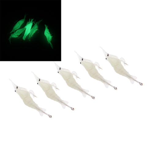 Image of Fishing Lure 5 Pack - Fishing Lure Soft Luminous Shrimp/Prawn Fishing Tackle Soft Bait With One Single Hook - I'LL TAKE THIS