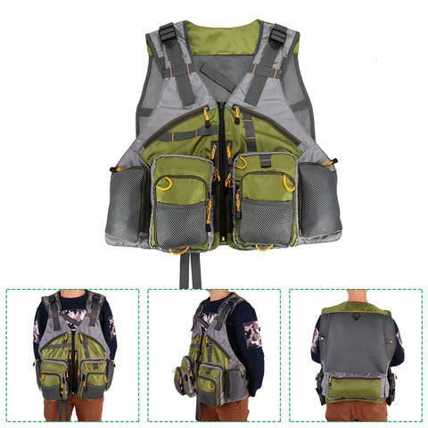 Image of Fishing Vest Top Quality Mesh Unisex with Fishing Tackle Box Pesca Back Multi-function Pockets - I'LL TAKE THIS