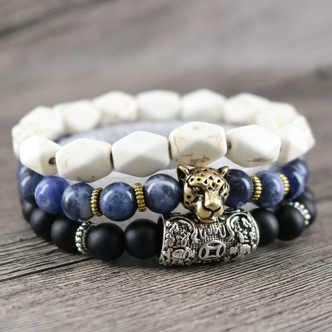 Image of Men's 3 Piece Lord Blessing Bracelets are made for your Wealth, Good Fortune and Prosperity - I'LL TAKE THIS
