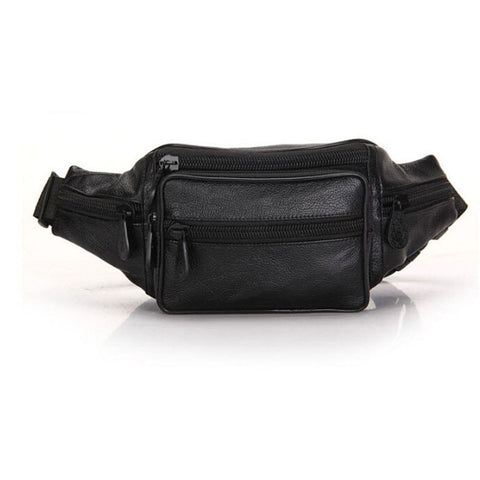 Image of Bum Bag for Men & Women in Leather Oil Wax for Travel, Riding, Hip Bum Belt Pouch - I'LL TAKE THIS