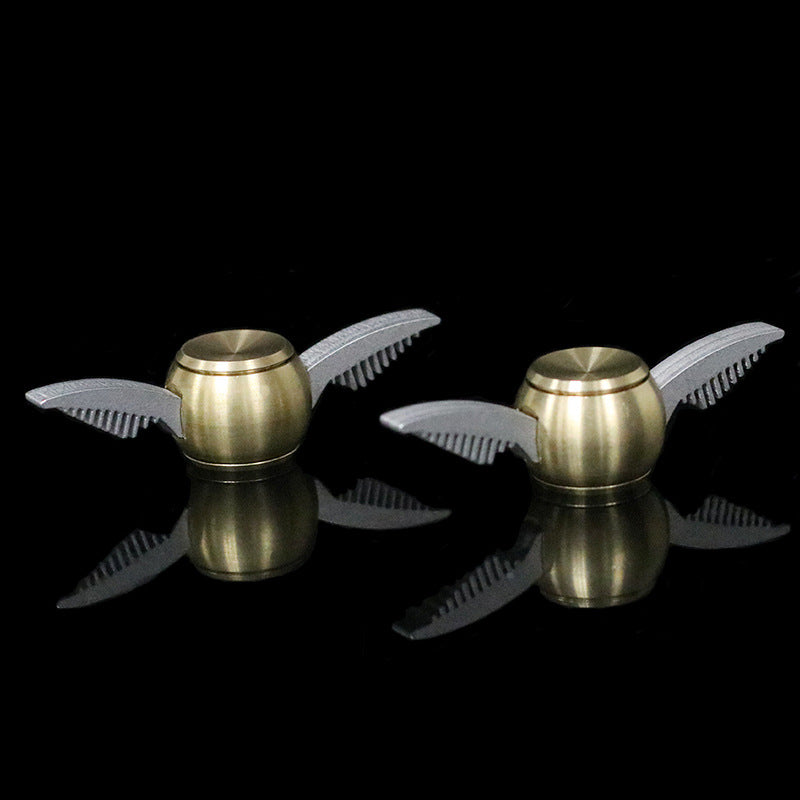 Cupid Fidget Spinner Gold Finger - Metal Brass Fidget Spinner Blue Metal Hand Spinner Stress fidget Classic Toys - I'LL TAKE THIS