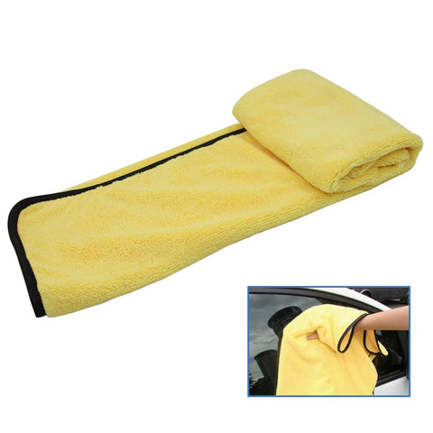 Image of Extra Large Microfiber Car Cleaning Cloths excellent Large surface Drying Cloths/Car Detailing 92cm/36' *56cm/22' - Yellow - I'LL TAKE THIS