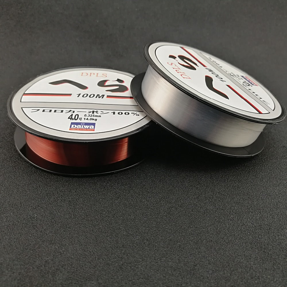 Fishing Line Wear Resisting New Style 100m/109 yds in Winered/Transparent Color - I'LL TAKE THIS