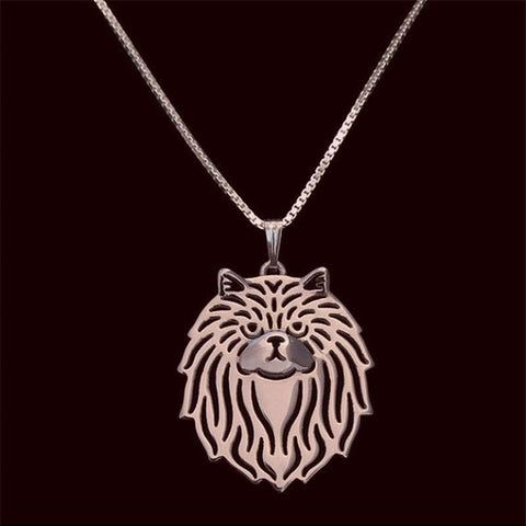 Image of Persian Cat Pendant in Gold, Silver or Rose Gold with FREE Link chain - I'LL TAKE THIS