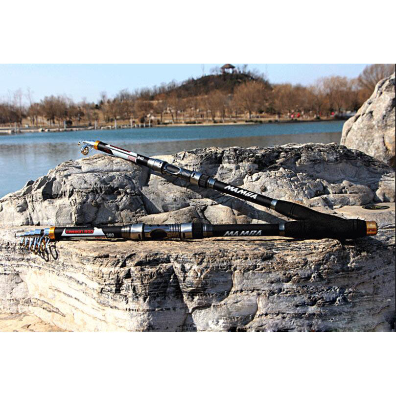 Fishing Rods Telescopic Portable  - Carbon Fiber in 5 varied sizes from 2.1M/6.8ft to 3.6M/11.8ft - I'LL TAKE THIS