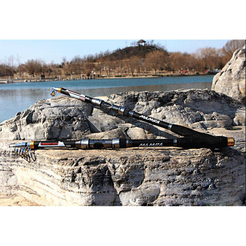 Image of Fishing Rods Telescopic Portable  - Carbon Fiber in 5 varied sizes from 2.1M/6.8ft to 3.6M/11.8ft - I'LL TAKE THIS