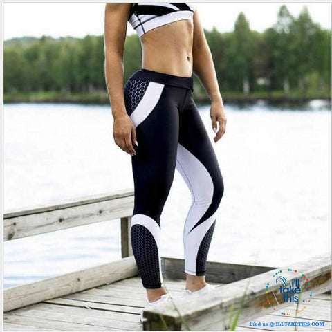 Image of Sheer Honeycomb print Women's Leggings/Work Out Pants - 8 Colored Options - I'LL TAKE THIS