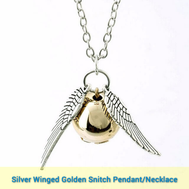 Stylish Harry Potter Collares Quidditch The Golden Snitch Pendant + Necklace - I'LL TAKE THIS