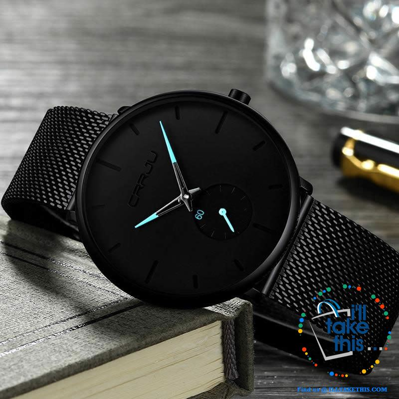 Sleek all black Men's Signature Watches - Quartz movement, water resistance men's watch 👨 - I'LL TAKE THIS