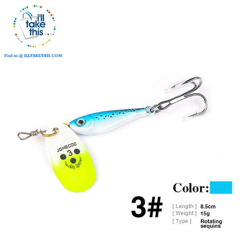 Image of Fishing Lures - JerkBaitPro™ Spinner, Classic Super bright colorful Spoon VIB-Sequin hard lures - I'LL TAKE THIS