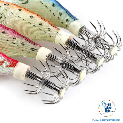 Image of TEN Pack of Multicolored Squid Jigs Fishing Lures, Ideal hardbait for any Anglers - I'LL TAKE THIS
