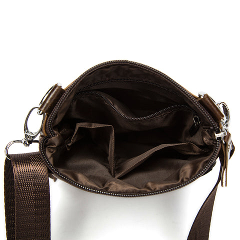 Man Bag in Genuine Leather - Small Messenger Bag with Shoulder Strap/Cross-body - 5 Colors - I'LL TAKE THIS