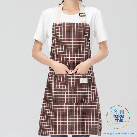 Image of Eco-friendly Cotton Linen Aprons with 2 deep pockets, 7 Designs - I'LL TAKE THIS